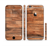 The Rich Wood Planks Sectioned Skin Series for the Apple iPhone 6