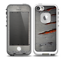 The Ripped Red-Core Metal Skin for the iPhone 5-5s fre LifeProof Case
