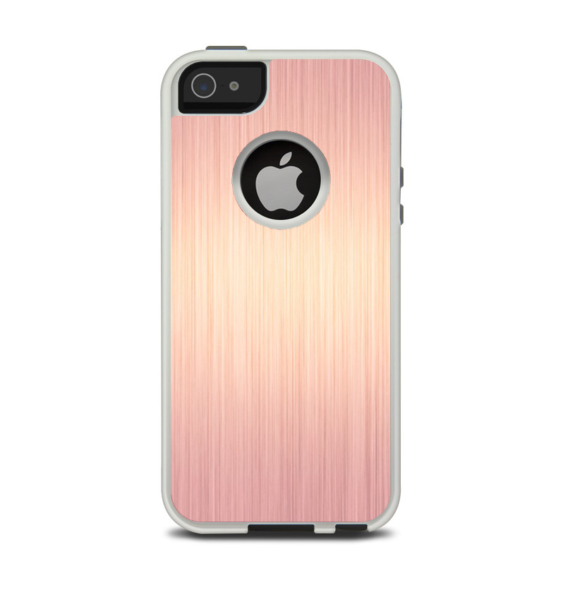 d3b3e59bf The Rose Gold Brushed Surface Apple iPhone 5-5s Otterbox Commuter Case -  DesignSkinz