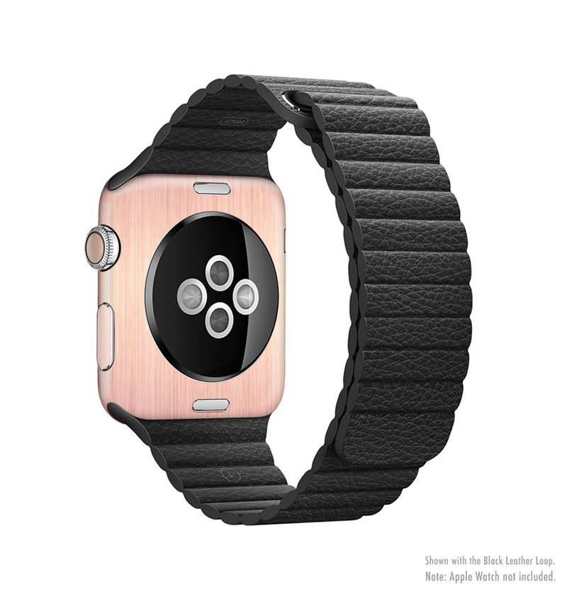 The Rose Gold Brushed Surface Full Body Skin Kit For The Apple Watch Designskinz