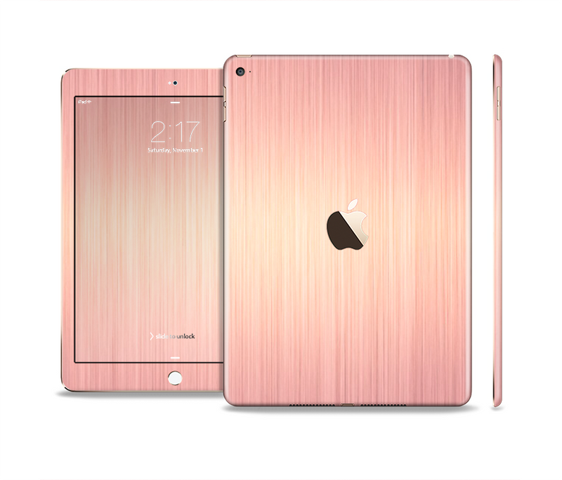 The Rose Gold Brushed Surface Skin Set for the Apple iPad Pro