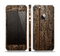 The Rough Textured Dark Wooden Planks Skin Set for the Apple iPhone 5
