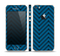 The Royal Blue & Black Sketch Chevron Skin Set for the Apple iPhone 5s