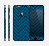 The Royal Blue & Black Sketch Chevron Skin for the Apple iPhone 6