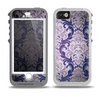 The Royal Purple Laced Wallpaper Skin for the iPhone 5-5s OtterBox Preserver WaterProof Case