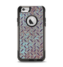 The Rusted Blue Diamond Plate Apple iPhone 6 Otterbox Commuter Case Skin Set