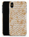 The Rustic Brown and Tan Chevron Pattern - iPhone X Clipit Case