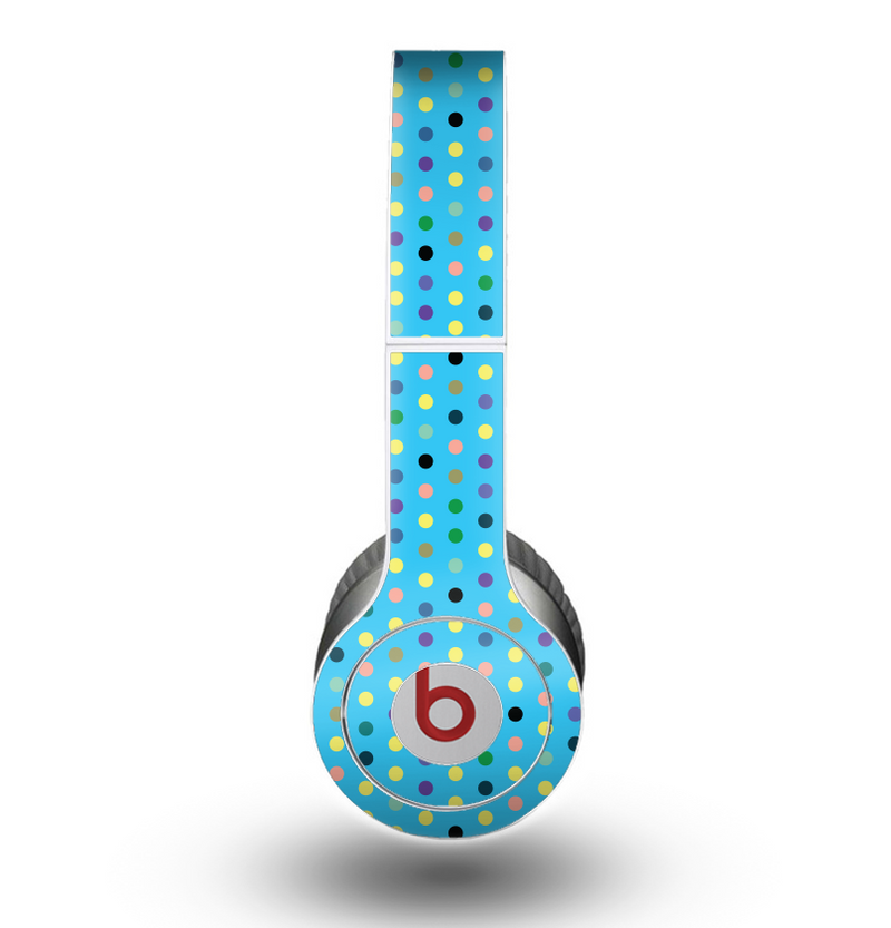 The Scattered Blue Polkadots Skin for the Beats by Dre Original Solo-Solo HD Headphones
