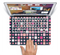 "The Scattered Pink Squared-Polka Dots Skin Set for the Apple MacBook Pro 15"" with Retina Display"