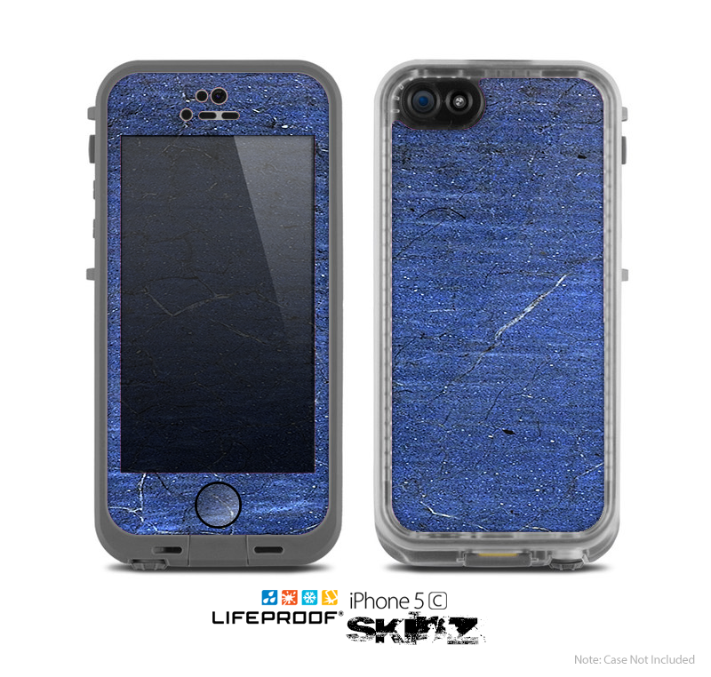 The Scratched Blue Surface Skin for the Apple iPhone 5c LifeProof Case
