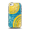 The Scratched Blue and Gold Surface Apple iPhone 5c Otterbox Symmetry Case Skin Set