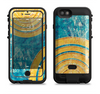 the scratched blue and gold surface  iPhone 6/6s Plus LifeProof Fre POWER Case Skin Kit