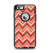 The Scratched Coral & Brown Layered Chevron V2 Apple iPhone 6 Otterbox Defender Case Skin Set