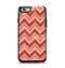 The Scratched Coral & Brown Layered Chevron V2 Apple iPhone 6 Otterbox Symmetry Case Skin Set