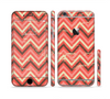The Scratched Coral & Brown Layered Chevron V2 Sectioned Skin Series for the Apple iPhone 6 Plus