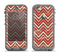The Scratched Coral & Brown Layered Chevron V3 Apple iPhone 5c LifeProof Nuud Case Skin Set