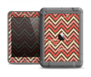 The Scratched Coral & Brown Layered Chevron V3 Apple iPad Air LifeProof Fre Case Skin Set