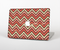"The Scratched Coral & Brown Layered Chevron V3 Skin Set for the Apple MacBook Pro 15"" with Retina Display"