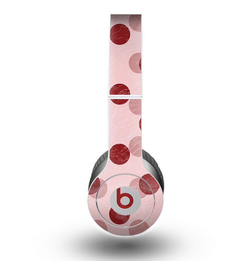 The Scratched & Scatterd Pink Polkadots Skin for the Beats by Dre Original Solo-Solo HD Headphones