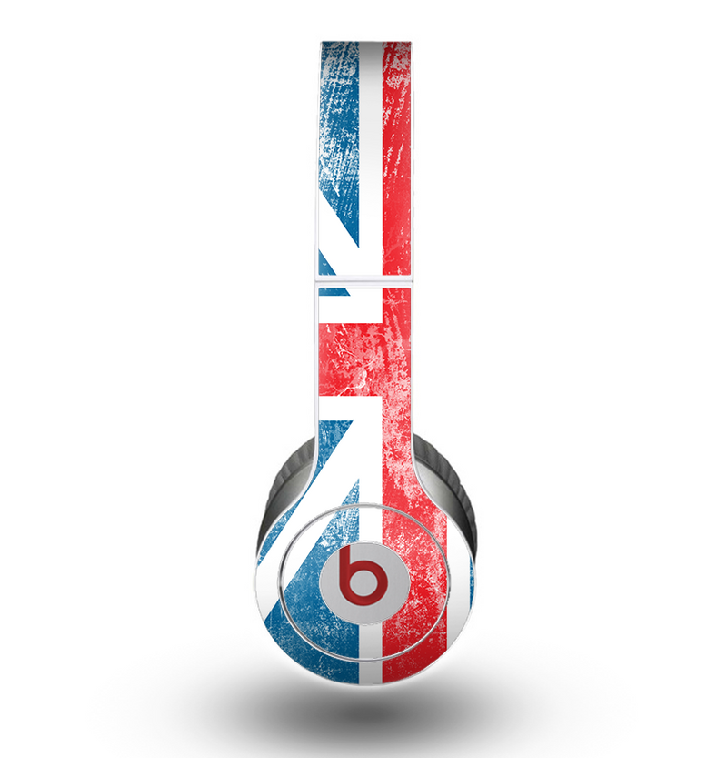 The Scratched Surface London England Flag Skin for the Beats by Dre Original Solo-Solo HD Headphones