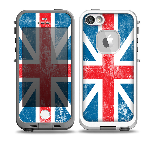 The Scratched Surface London England Flag Skin for the iPhone 5-5s fre LifeProof Case