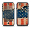 The Scratched Surface Peeled American Flag Apple iPhone 6/6s Plus LifeProof Fre Case Skin Set
