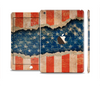 The Scratched Surface Peeled American Flag Full Body Skin Set for the Apple iPad Mini 3