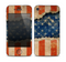 The Scratched Surface Peeled American Flag Skin for the Apple iPhone 4-4s