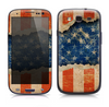 The Scratched Surface Peeled American Flag Skin for the Samsung Galaxy S3