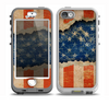 The Scratched Surface Peeled American Flag Skin for the iPhone 5-5s nüüd LifeProof Case