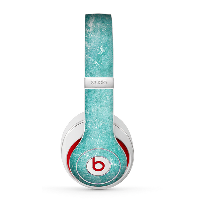 The Scratched Turquoise Surface Skin for the Beats by Dre Studio (2013+ Version) Headphones