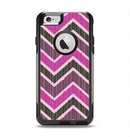 The Scratched Vintage Chevron Surface Apple iPhone 6 Otterbox Commuter Case Skin Set