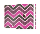 The Scratched Vintage Chevron Surface Full Body Skin Set for the Apple iPad Mini 3