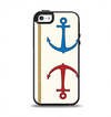 The Scratched Vintage Red Anchor Apple iPhone 5-5s Otterbox Symmetry Case Skin Set