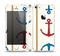 The Scratched Vintage Red Anchor Skin Set for the Apple iPhone 5