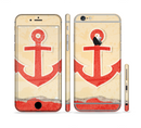 The Scratched Vintage Red Anchor Sectioned Skin Series for the Apple iPhone 6