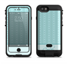 the seamless blue subtle floral strips name script  iPhone 6/6s Plus LifeProof Fre POWER Case Skin Kit