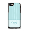 The Seamless Blue Subtle Floral Strips Name Script Apple iPhone 6 Otterbox Symmetry Case Skin Set
