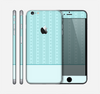 The Seamless Blue Subtle Floral Strips Skin for the Apple iPhone 6 Plus