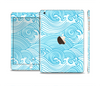The Seamless Blue Waves Full Body Skin Set for the Apple iPad Mini 3