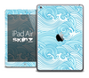The Seamless Blue Waves Skin for the iPad Air