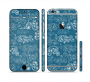 The Seamless Blue and White Paisley Swirl Sectioned Skin Series for the Apple iPhone 6s
