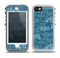 The Seamless Blue and White Paisley Swirl Skin for the iPhone 5-5s OtterBox Preserver WaterProof Case
