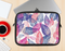 The Seamless Pink & Blue Color Leaves Ink-Fuzed NeoPrene MacBook Laptop Sleeve