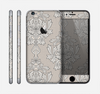 The Seamless Tan Floral Pattern Skin for the Apple iPhone 6
