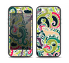 The Shades of Green Swirl Pattern V32 Skin Set for the iPhone 5-5s Skech Glow Case