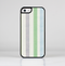 The Shades of Green Vertical Stripes Skin-Sert for the Apple iPhone 5c Skin-Sert Case