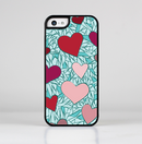 The Sharded Hearts On Teal Skin-Sert for the Apple iPhone 5c Skin-Sert Case