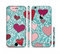The Sharded Hearts On Teal Sectioned Skin Series for the Apple iPhone 6s