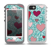 The Sharded Hearts On Teal Skin for the iPhone 5-5s OtterBox Preserver WaterProof Case